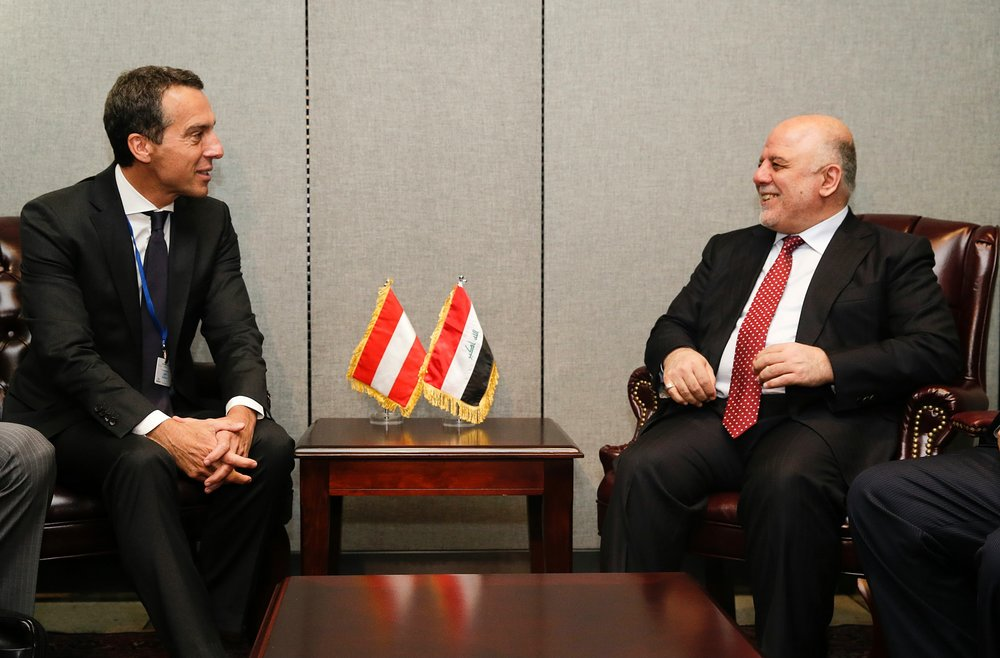 Chancellor Kern and Iraqi Prime Minister Haider al-Abadi Photo: BKA/Andy Wenzel