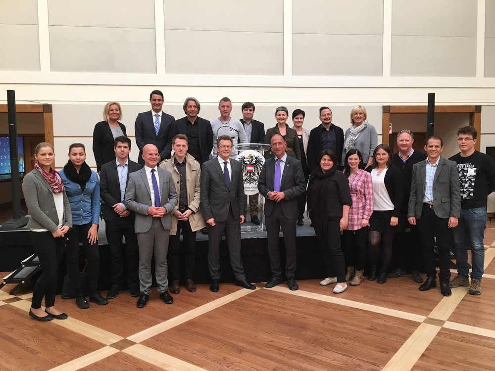 Ambassador Wolfgang Waldner welcomes students and faculty from Danube University Krems.  Photo: Embassy of Austria