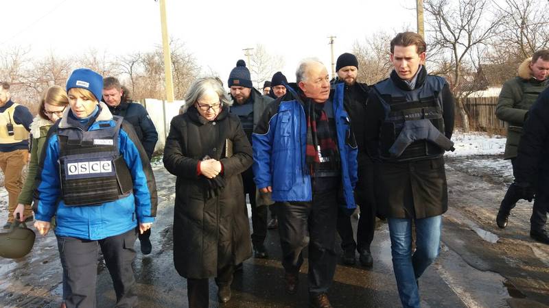 Foreign Minister Sebastian Kurz visits the Eastern Ukraine. 3-4 January 2017 Photo: Dragan Tatic