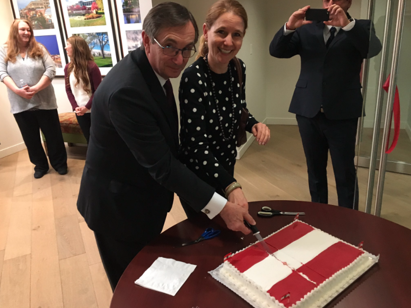 Austrian Consul Franz Kolb and Gudrun Faudon-Waldner, spouse of the Ambassador