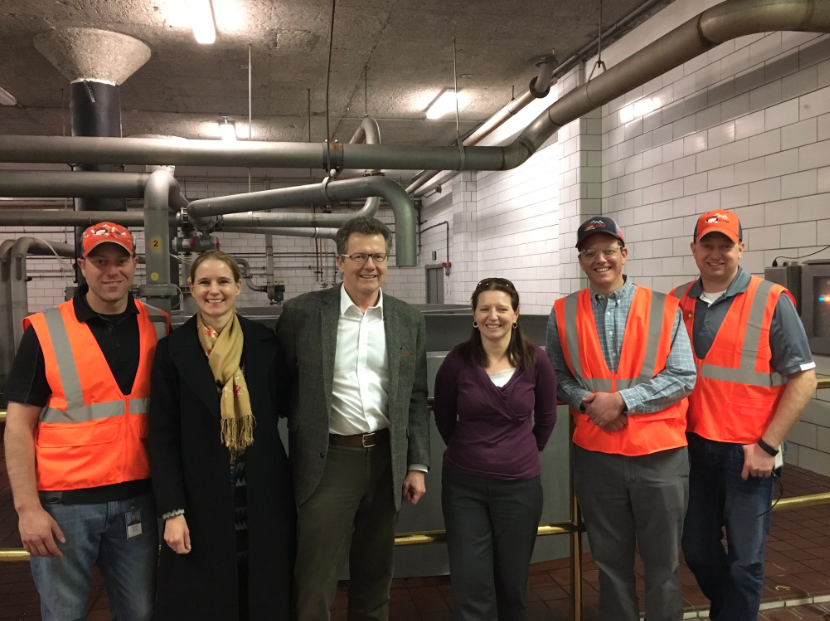 Tour of Coors Brewery with Ms. Ursula Webhofer and employees.
