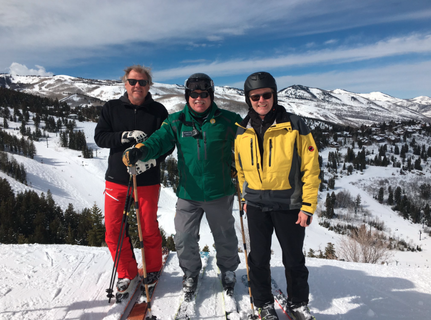 """On site inspection"" of Utah's Ski industry in Park City's Deer Valley with Bob Wheaton, President and General Manager of Deer Valley Resort and Michael O'Malley, Marketing director of Utah Governor's Office of Economic Development"
