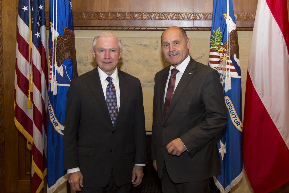 "(From left): U.S. Attorney General Jeff Sessions, Federal Minister Wolfgang Sobotka.  Photo: BMI/          96              Normal   0           false   false   false     EN-US   X-NONE   X-NONE                                                                                                                                                                                                                                                                                                                                                                                                                                                                                                                                                                                                                                                                                                                                                                                                                                                                                     /* Style Definitions */ table.MsoNormalTable 	{mso-style-name:""Table Normal""; 	mso-tstyle-rowband-size:0; 	mso-tstyle-colband-size:0; 	mso-style-noshow:yes; 	mso-style-priority:99; 	mso-style-parent:""""; 	mso-padding-alt:0in 5.4pt 0in 5.4pt; 	mso-para-margin:0in; 	mso-para-margin-bottom:.0001pt; 	mso-pagination:widow-orphan; 	font-size:12.0pt; 	font-family:Calibri; 	mso-ascii-font-family:Calibri; 	mso-ascii-theme-font:minor-latin; 	mso-hansi-font-family:Calibri; 	mso-hansi-theme-font:minor-latin;}     Jürgen Makowecz"