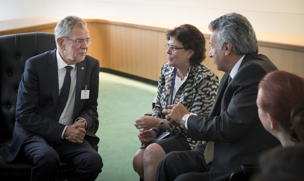 President Alexander Van der Bellen meets with President Lenín Moreno of Ecuador, Photo: Peter Lechner/HBF