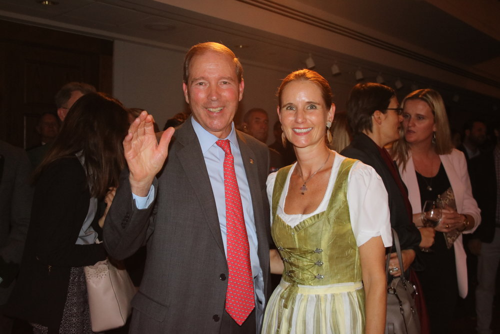 U.S. Senator Tom Udall with Gudrun Faudon-Waldner