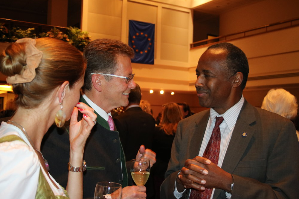 Ambassador Wolfgang Waldner and his wife Gudrun Faudon-Waldner with Secretary Ben Carson