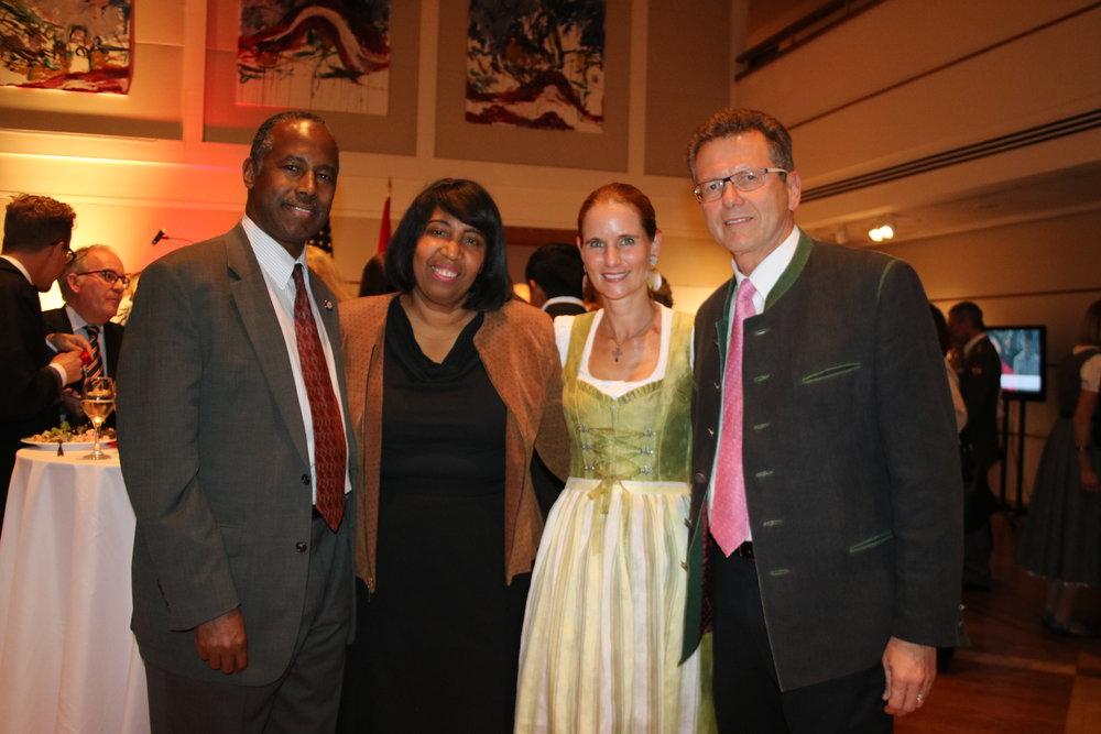 Secretary Ben Carson with his wife Candy Carson, Gudrun Faudon-Waldner, Ambassador Wolfgang Waldner