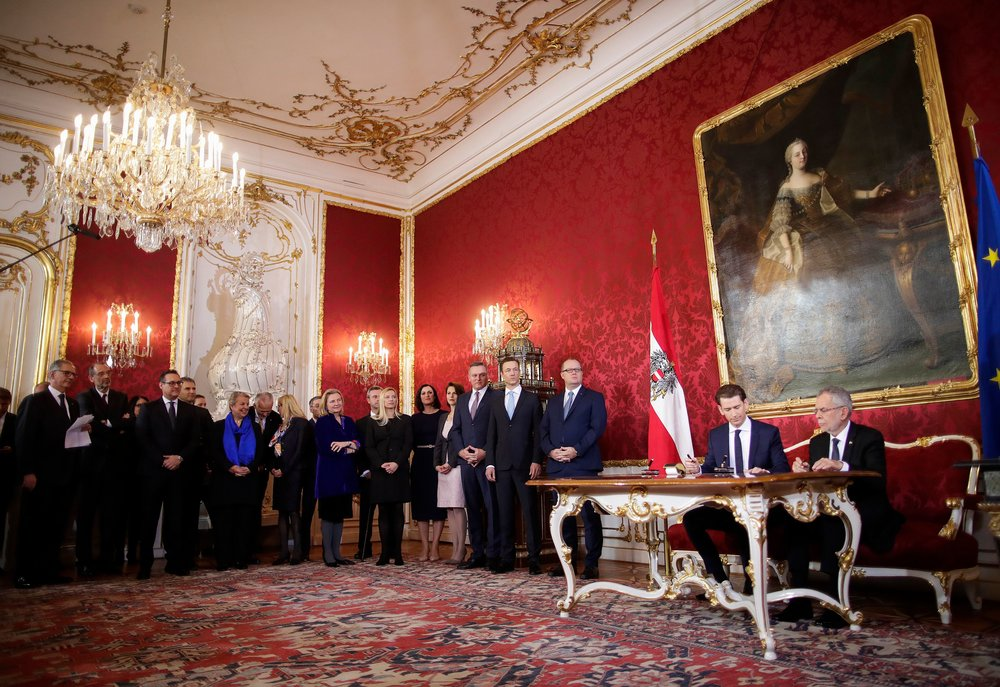 Inauguration of new Austrian coalition government (c) BKA, Andy Wenzel