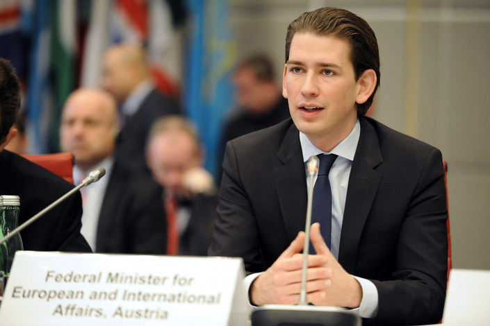 Federal Minister Sebastian Kurz at this year's OSCE Mediterranean Conference. Vienna, October 2016, Picture: OSCE / Micky Kroell