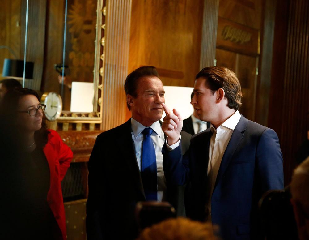 Arnold Schwarzenegger, Federal Chancellor Sebastian Kurz Credit: Dragan Tatic/ BKA