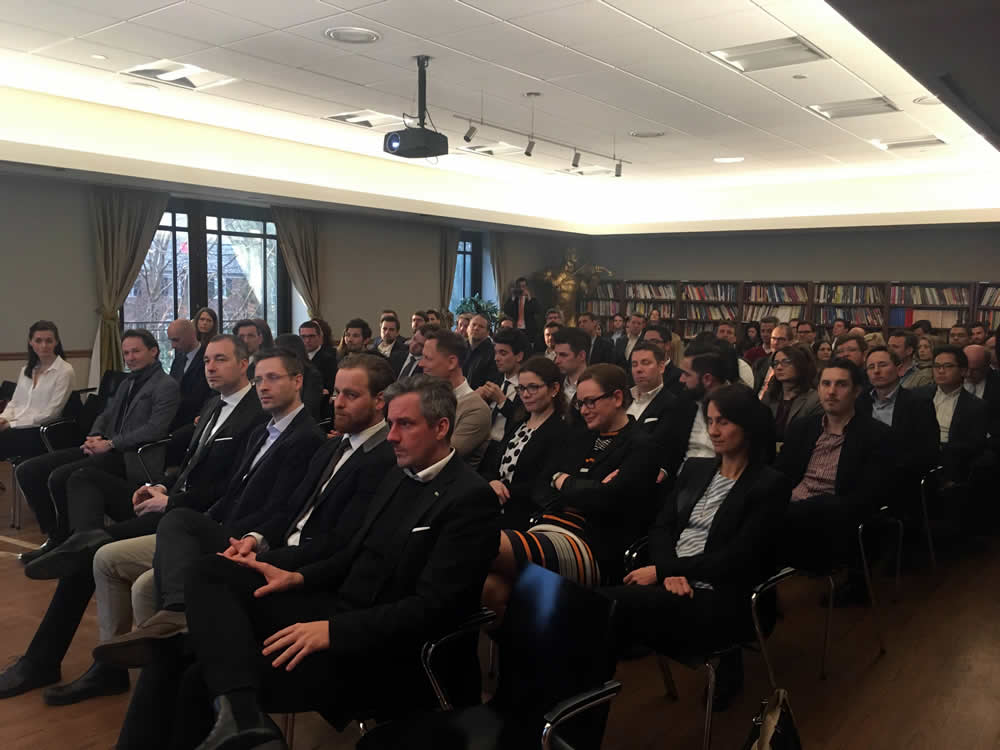 MBA Students from the University of Salzburg Business School during an Embassy briefing.