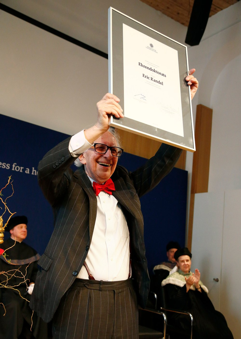 Neuroscientist Dr. Eric Kandel with Honorary Doctorate from MedUni Vienna on April 24, 2018 in Vienna, Austria