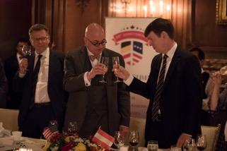 Ambassador Wolfgang Waldner, Professor Botstein, Terence Klein (Administrator, Botstiber Foundation)