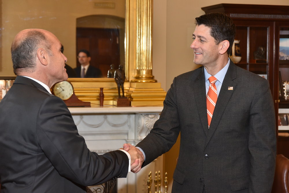 Wolfgang Sobotka with Paul Ryan, Speaker of the United States House of Representatives