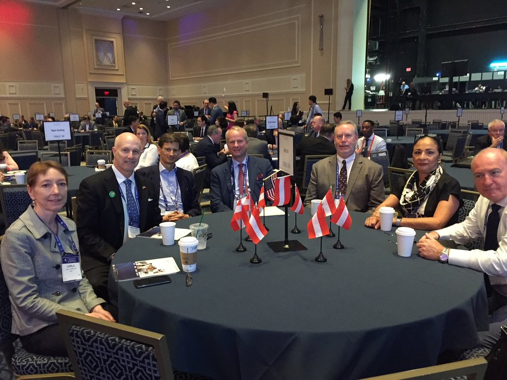The Austrian participants at  SelectUSA Invetsment Summit 2018