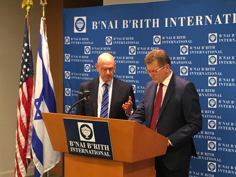 B'nai B'rith Vice President and CEO Dan Mariaschin (left) and Ambassador Wolfgang Waldner.