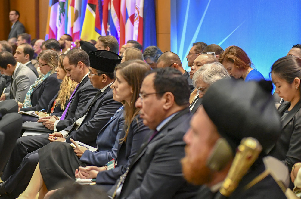 Participants  at the Ministerial to Advance Religious Freedom at the U.S. Department  of State in Washington, D.C. on July 26 2018.  [State Department  Photo/Public Domain]