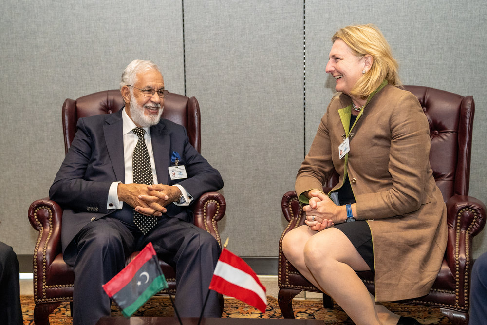 Foreign Minister Karin Kneissl meets with Foreign Minister of Libya, Mohamed Siala (c) Austrian Ministry of Foreign Affairs