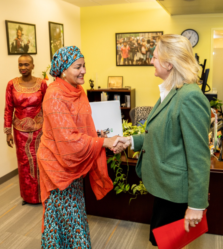 Meeting with Amina Mohammed, Deputy Secretary-General of the UN, on the 17 Sustainable Development Goals of the 2030 agenda (c) Austrian Ministry of Foreign Affairs
