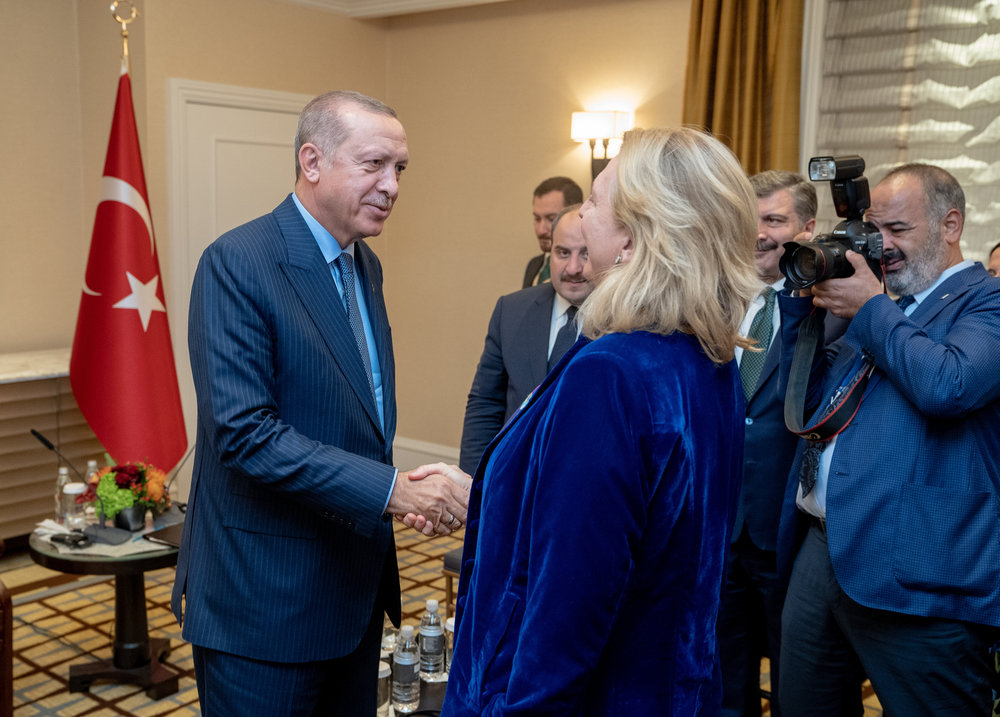 Foreign Minister Karin Kneissl meeting with Turkish President, Recep Tayyip Erdogan (c) Austrian Ministry of Foreign Affairs
