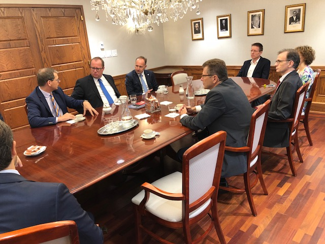 Secretary of Finance Fuchs in a meeting with representatives of the Austrian Embassy in Washington, DC