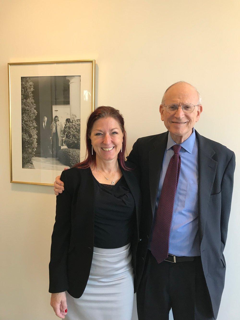With Stuart Eizenstat, U.S. chief negotiator of the U.S.-Austrian Washington Agreement 2001 (on Holocaust justice)