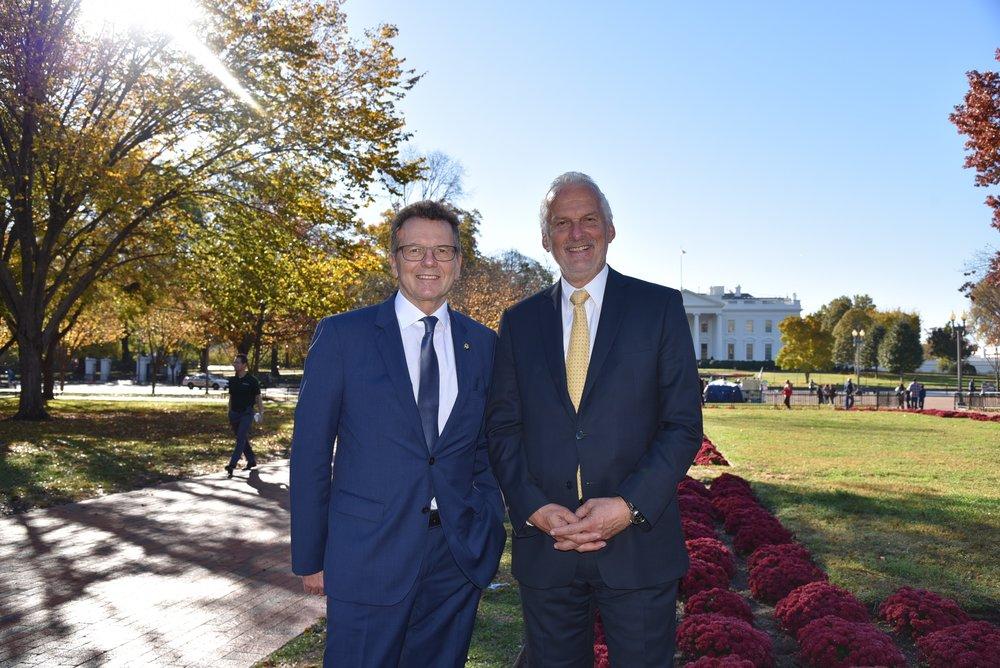Ambassador Waldner with Justice Minister Moser