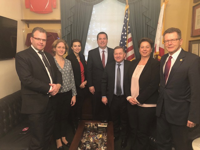 With Devin Nunes (fourth from left), Congressman from California