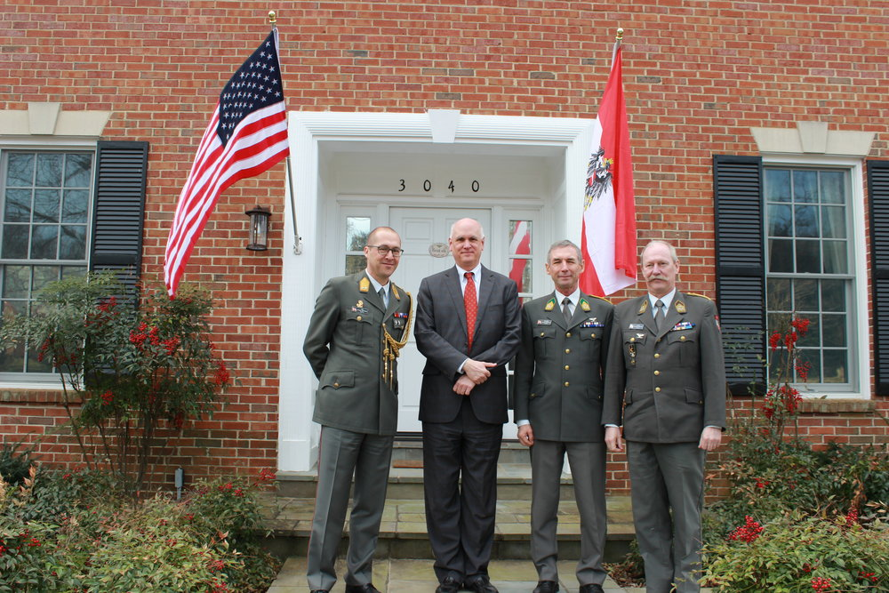 from left: Austrian Defense Attaché, MajGen Jürgen Ortner, former U.S. Deputy Assistant Secretary of Defense, Jim Townsend, Austrian Colonel Gottfried Malovits, Austrian Colonel Leo Radlingmayer