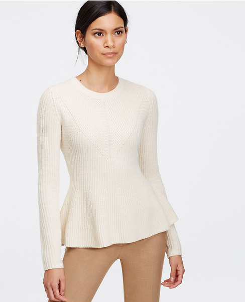 Stitchy Peplum Sweater