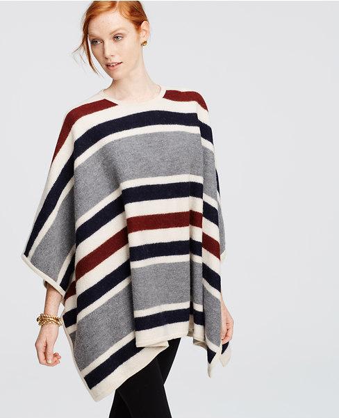 Blanket Stripe Poncho