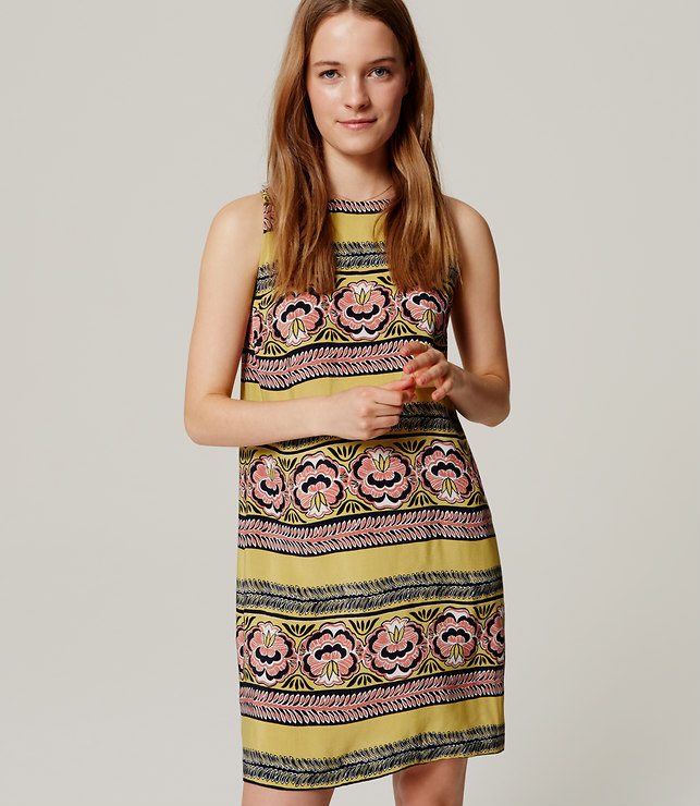 Bloomstripe Shift Dress, loft.com