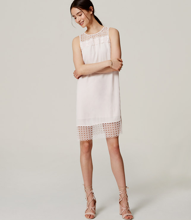 Lace Trim Dress, loft.com