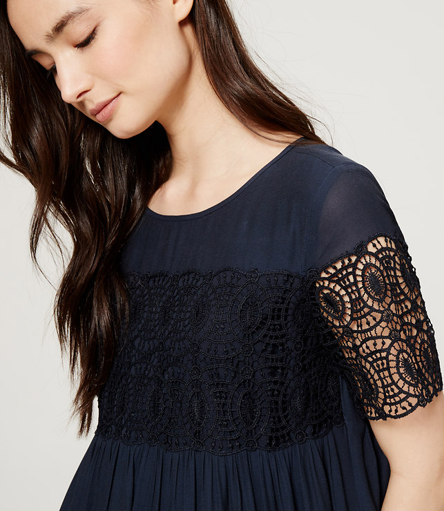 Lace Babydoll Dress, loft.com