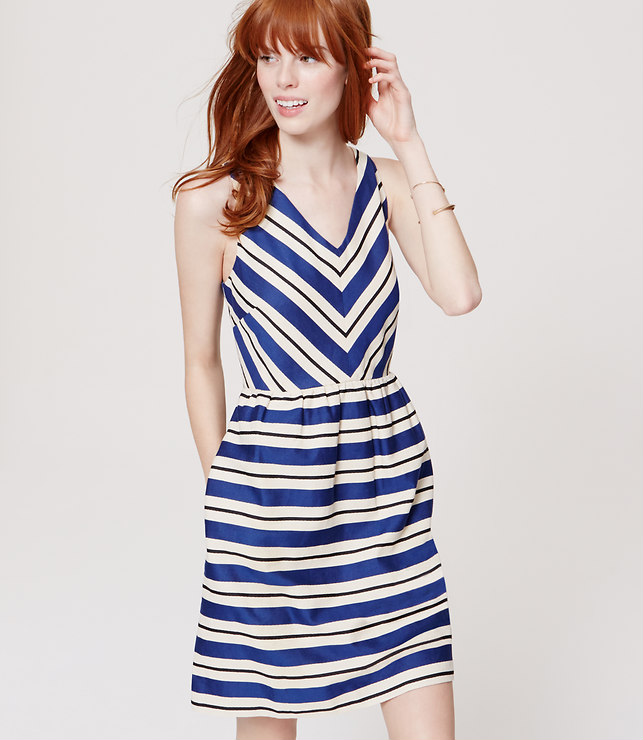 Striped Flare Dress, loft.com