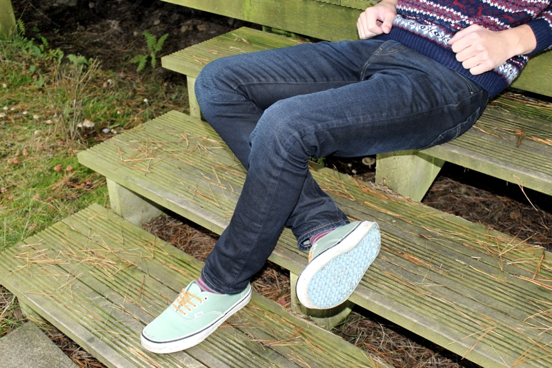 Levi 510 Super Skinny Jeans Rear Sitting on Step.jpg