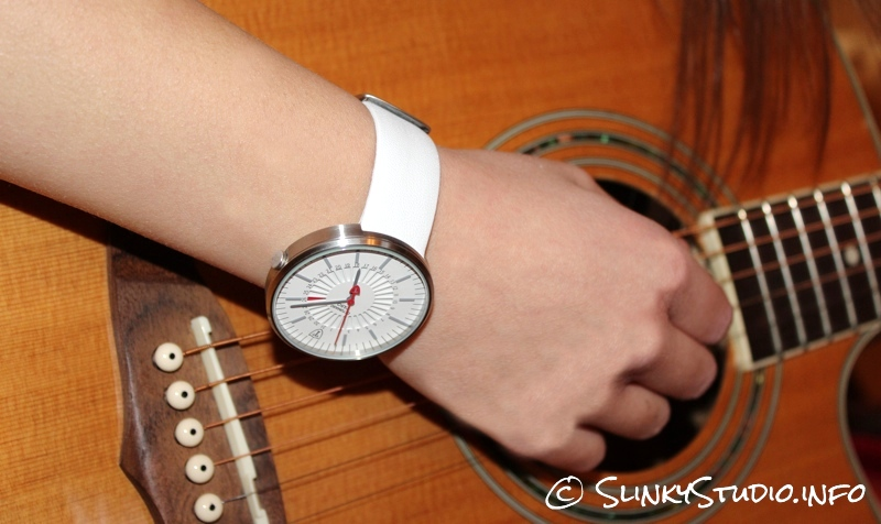 Detomaso Taro Watch Model Wearing White Version Guitar.jpg