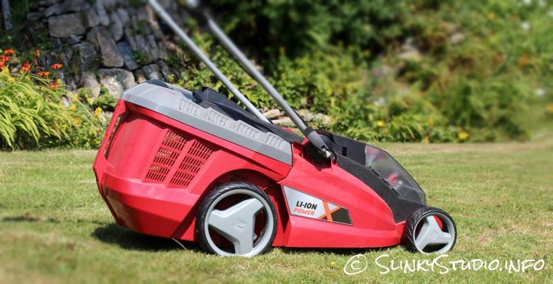 Einhell Power X-Change GE-CM Cordless Lawnmower Side View.jpg