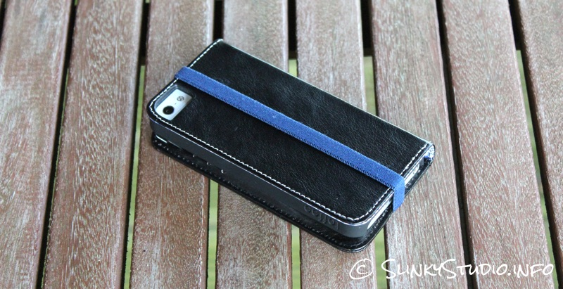 Toffee Flip Wallet Case for iPhone 5:5s Back View.jpg