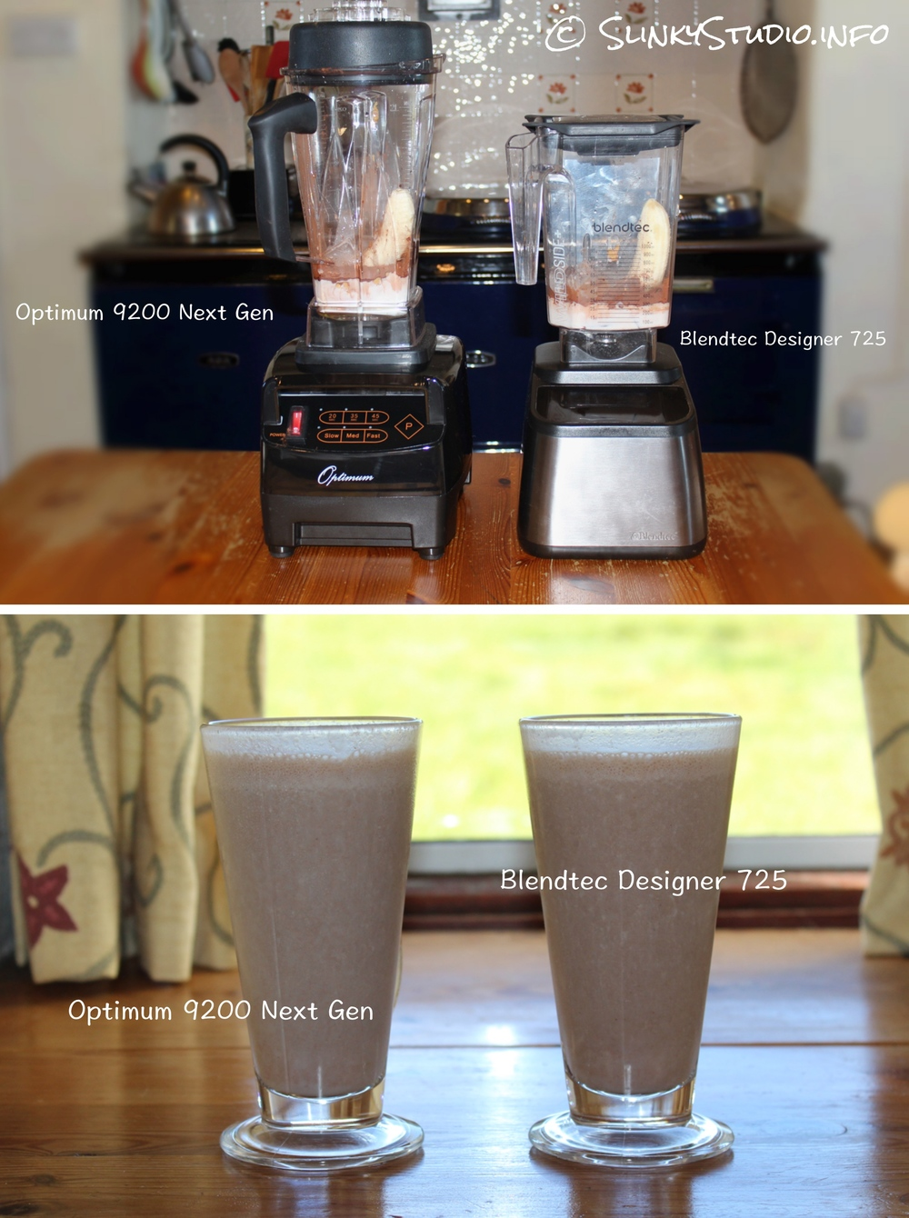 Optimum 9200 Next Generation vs Blendtec Designer 725 Blender