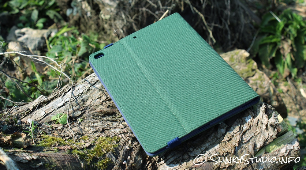 Toffee Flip Folio Case for iPad Air 2 Back View