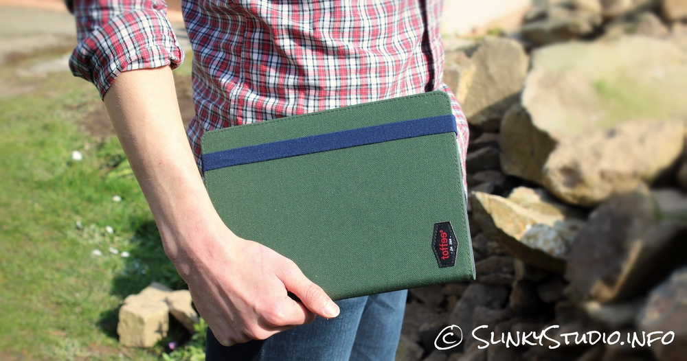 Toffee Flip Folio Case for iPad Air 2 Carried In Hand