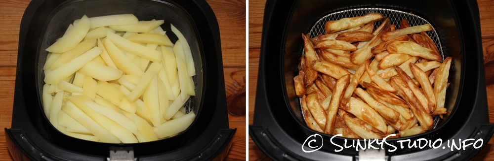 Philips Viva Airfryer Potato Chips/ Fries Results