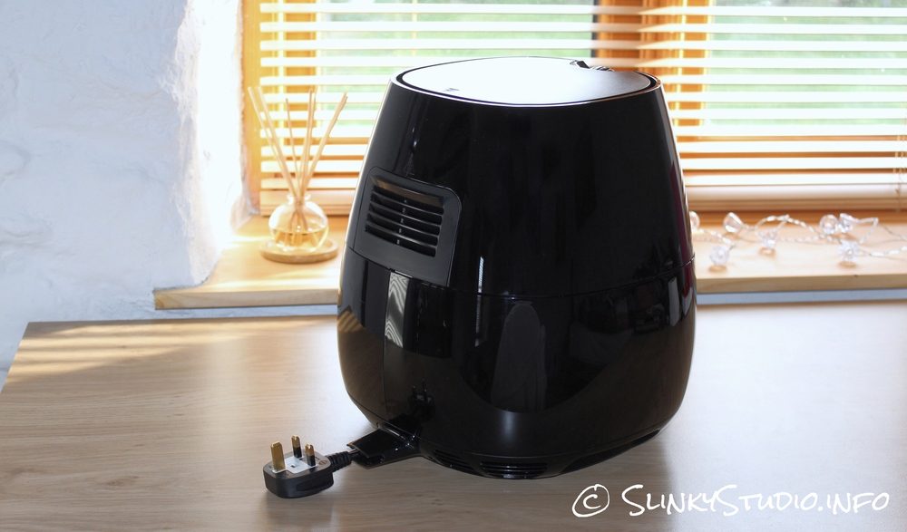 Philips Viva Airfryer Black Side & Back View