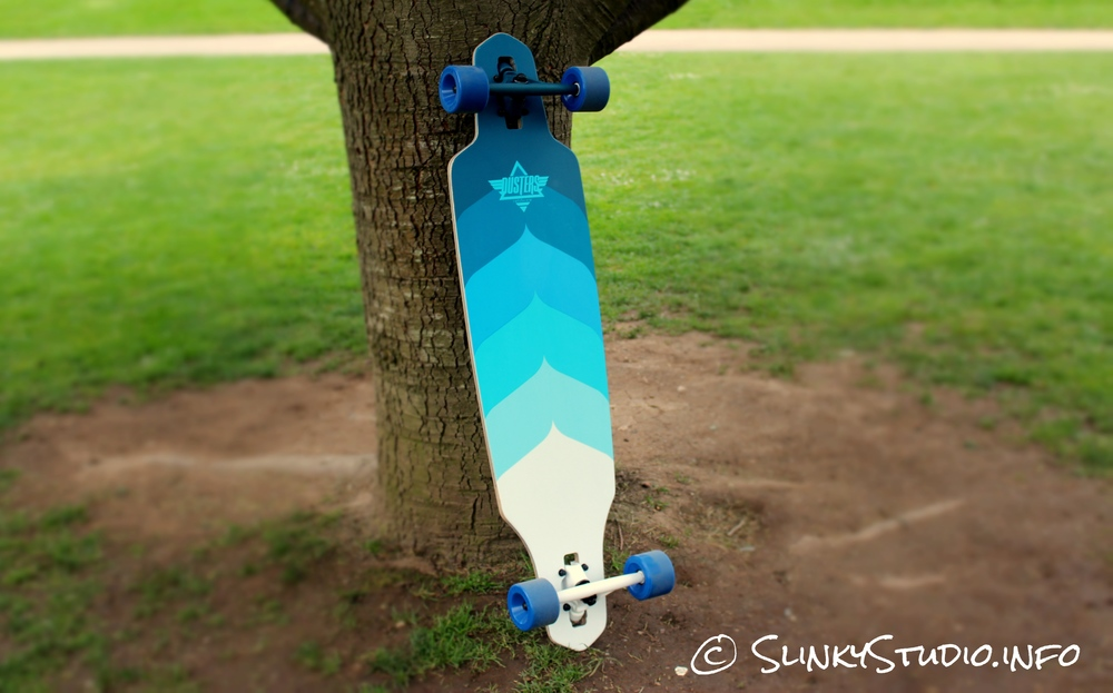 Dusters Wake Longboard Deck Graphics Blue