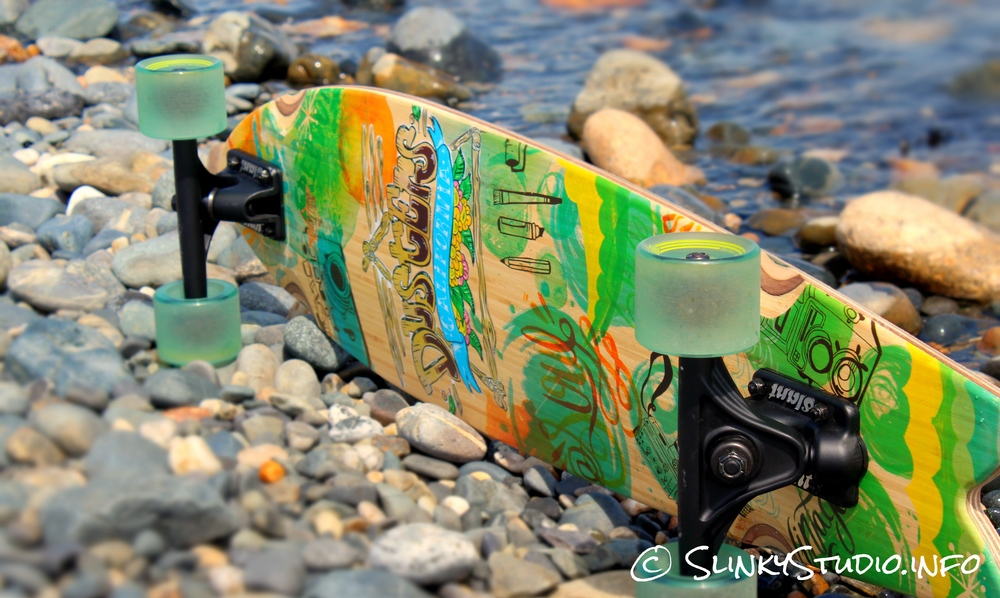 Dusters Snapshot Longboard Graphics Under Deck View