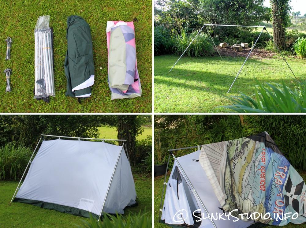 FieldCandy Original Explorer Tent Pitching Setup
