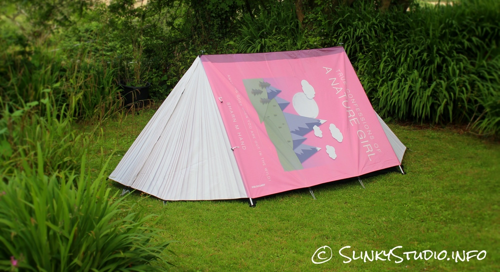 An example of a custom designed Original Explorer Fully Booked tent using the online design tool.