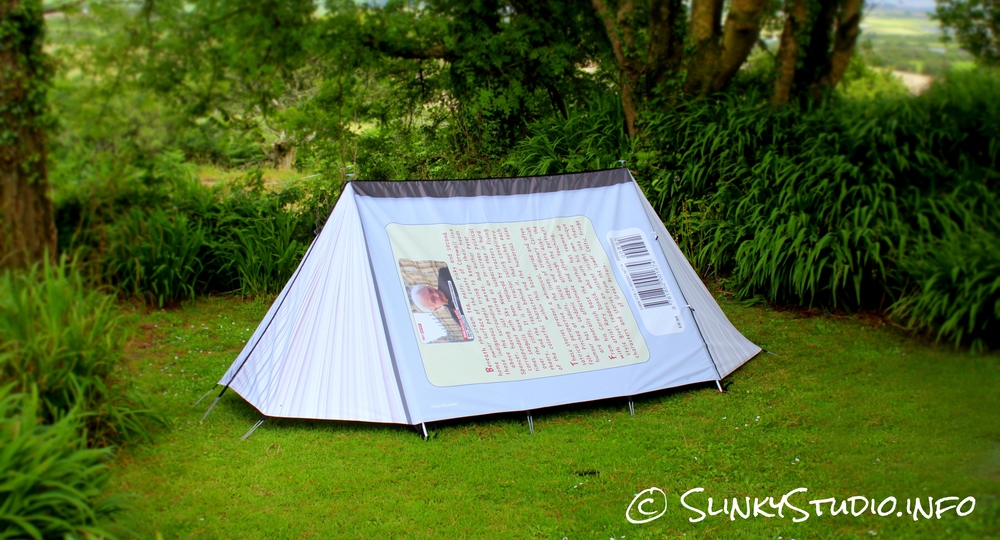 FieldCandy Original Explorer Tent Back Cover Book View & FieldCandy Original Explorer Tent Review - Slinky Studio