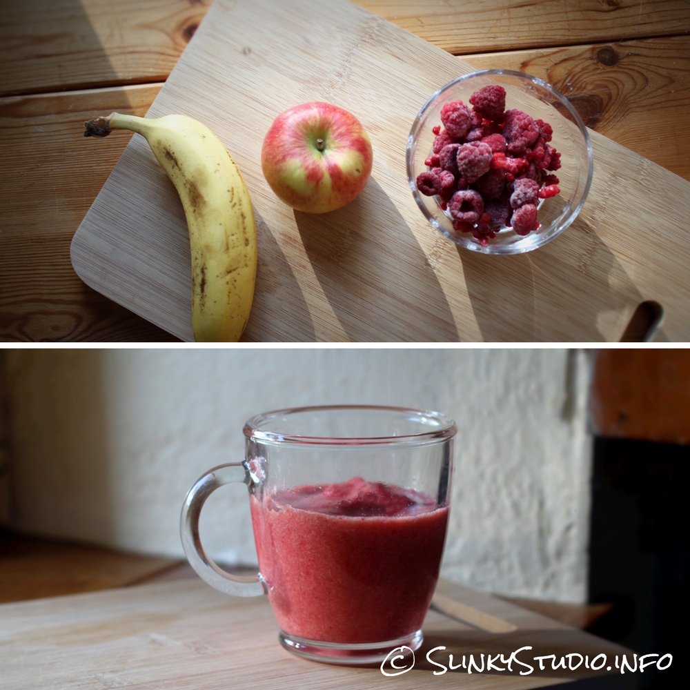 Novis Vita Juicer Apple Banana Raspberry Smoothie